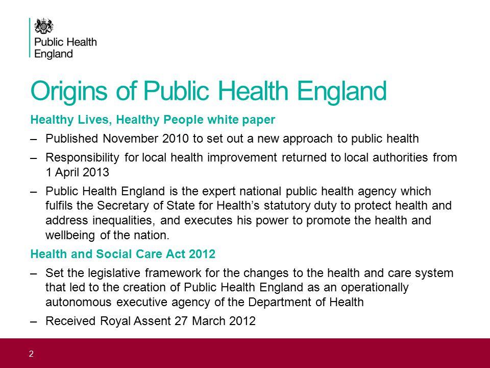 Origins of Public Health England