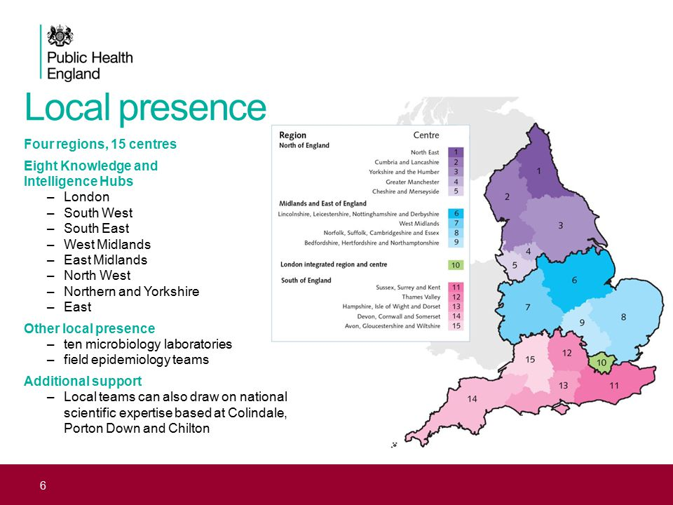 Local presence Four regions, 15 centres Eight Knowledge and