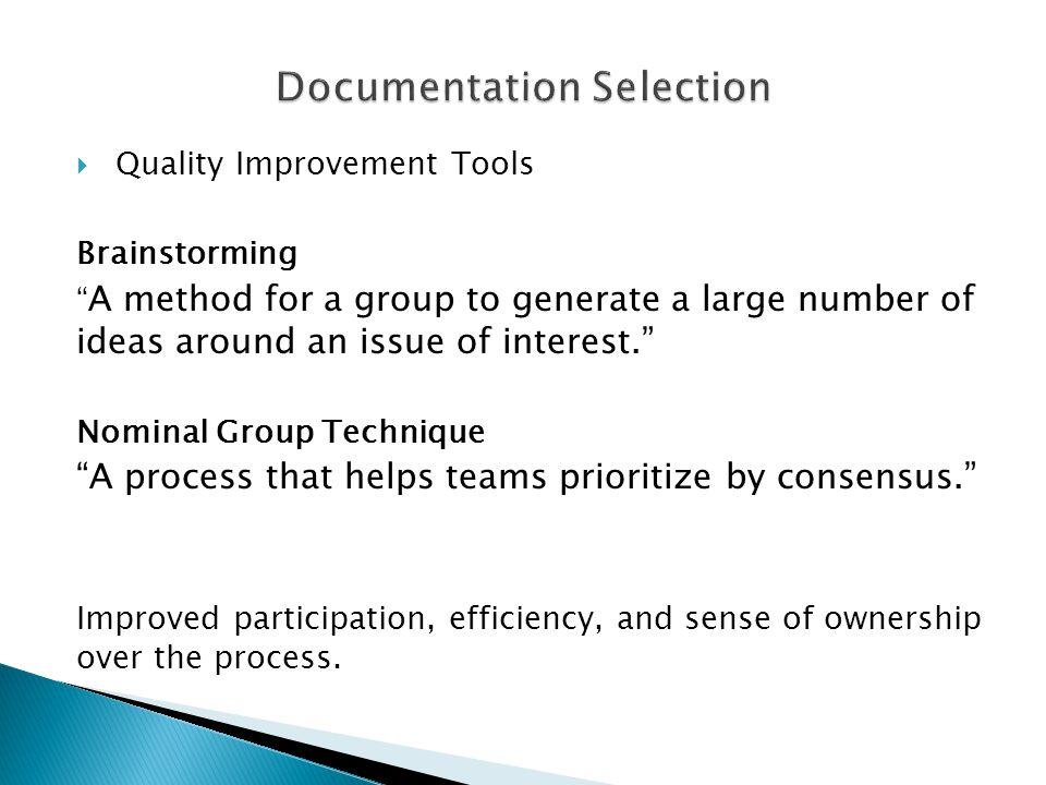 Documentation Selection