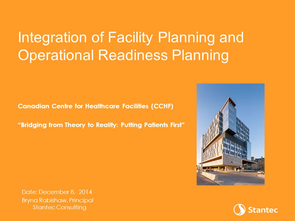 Integration of Facility Planning and Operational Readiness Planning