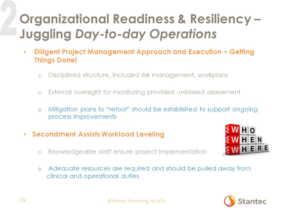Organizational Readiness & Resiliency – Juggling Day-to-day Operations
