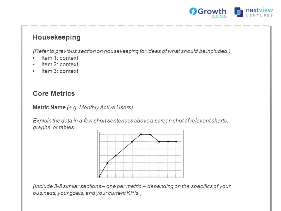 Housekeeping Core Metrics