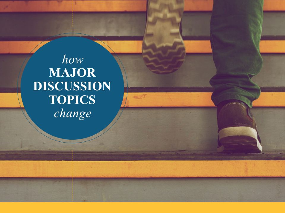 how MAJOR DISCUSSION TOPICS change