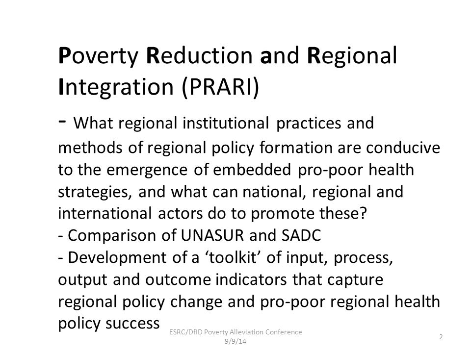 ESRC/DfID Poverty Alleviation Conference 9/9/14