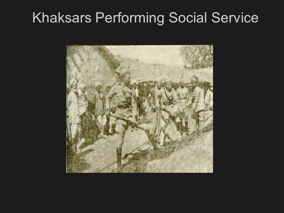 Khaksars Performing Social Service