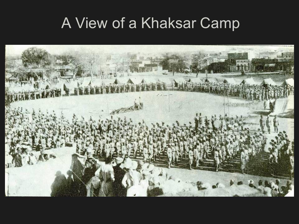 A View of a Khaksar Camp