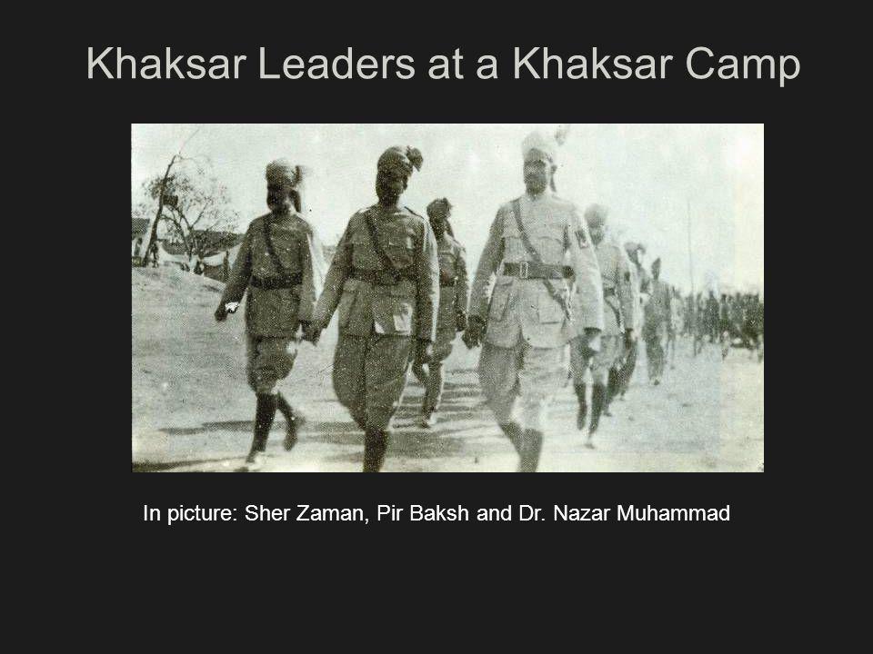 Khaksar Leaders at a Khaksar Camp