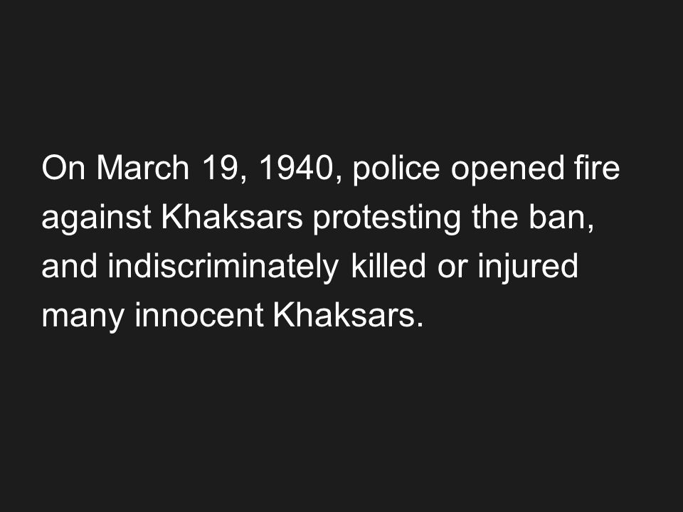On March 19, 1940, police opened fire