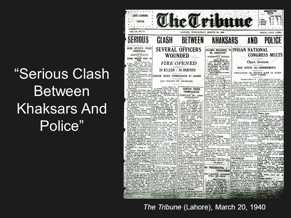 Serious Clash Between Khaksars And Police
