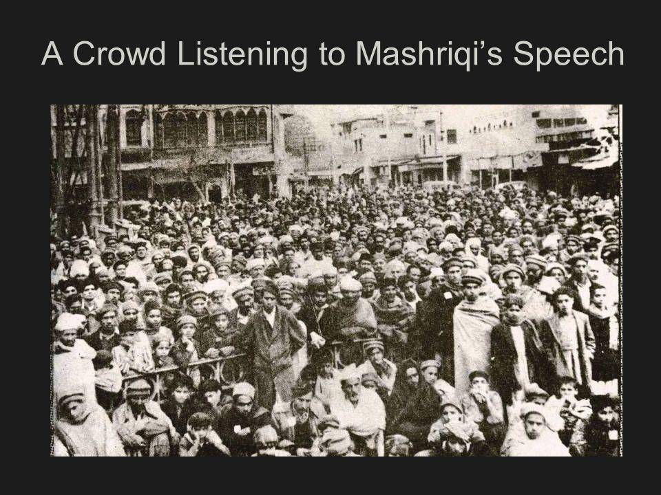 A Crowd Listening to Mashriqi's Speech