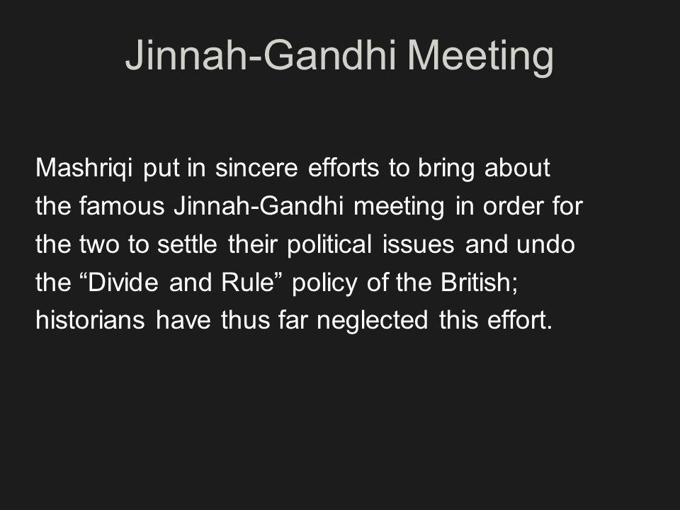 Jinnah-Gandhi Meeting