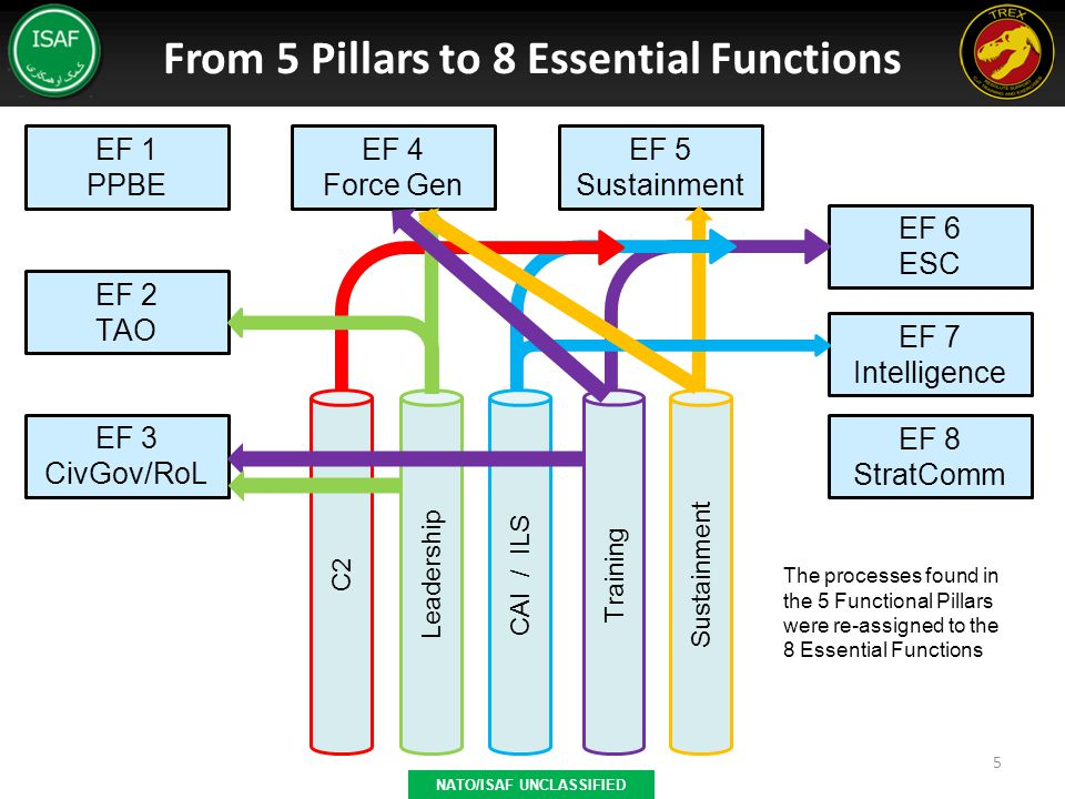 From 5 Pillars to 8 Essential Functions