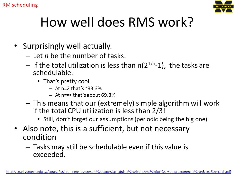 How well does RMS work Surprisingly well actually.