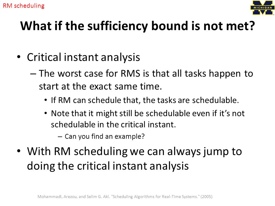 What if the sufficiency bound is not met