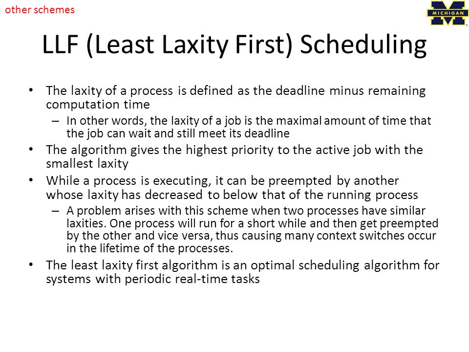 LLF (Least Laxity First) Scheduling