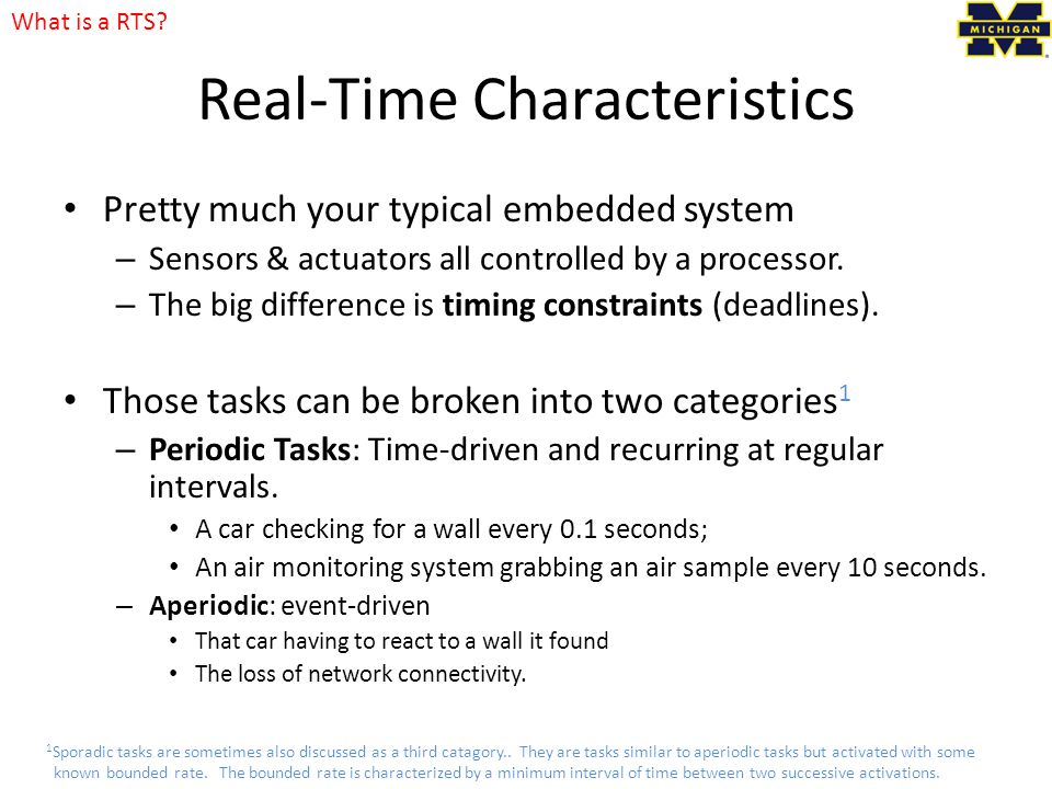 Real-Time Characteristics