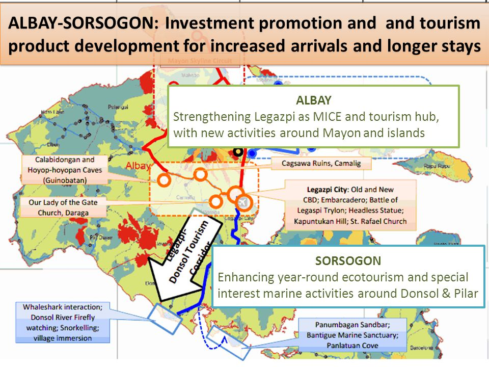 ALBAY-SORSOGON: Investment promotion and and tourism product development for increased arrivals and longer stays