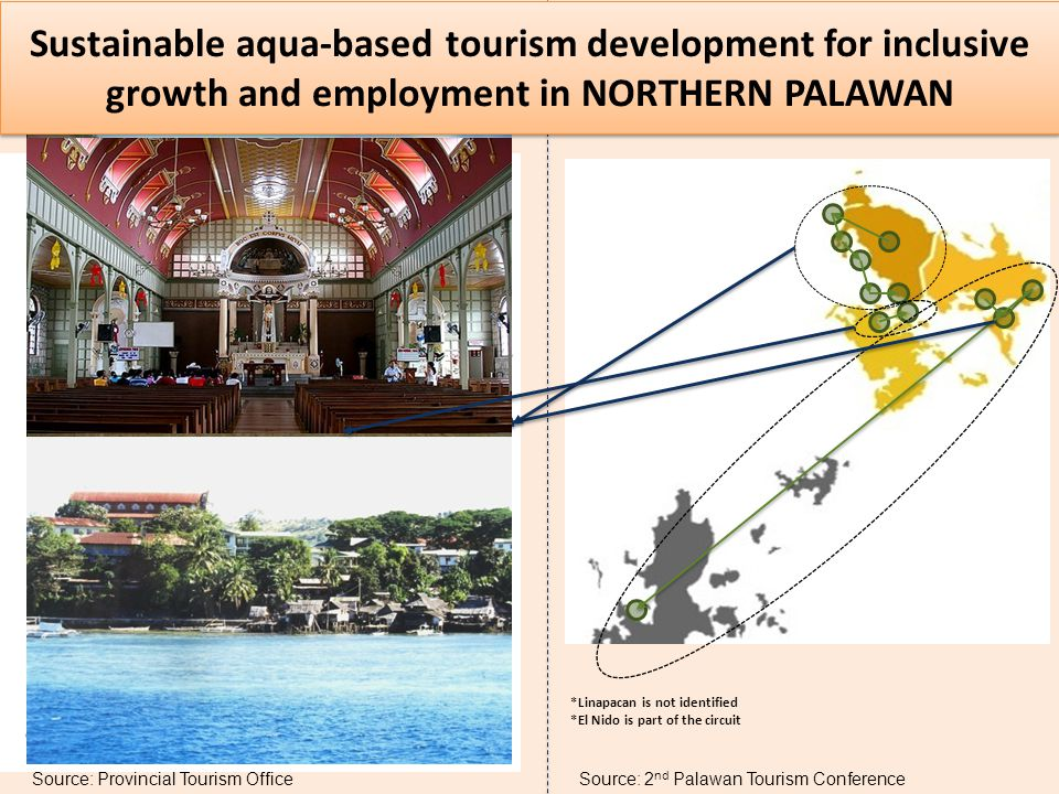 Sustainable aqua-based tourism development for inclusive growth and employment in NORTHERN PALAWAN