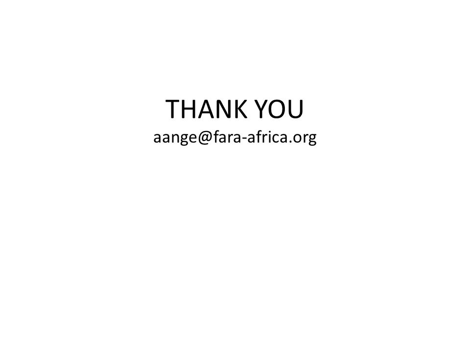 THANK YOU aange@fara-africa.org