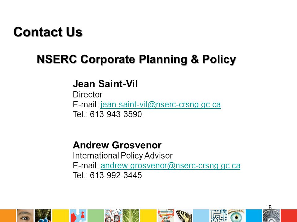 NSERC Corporate Planning & Policy