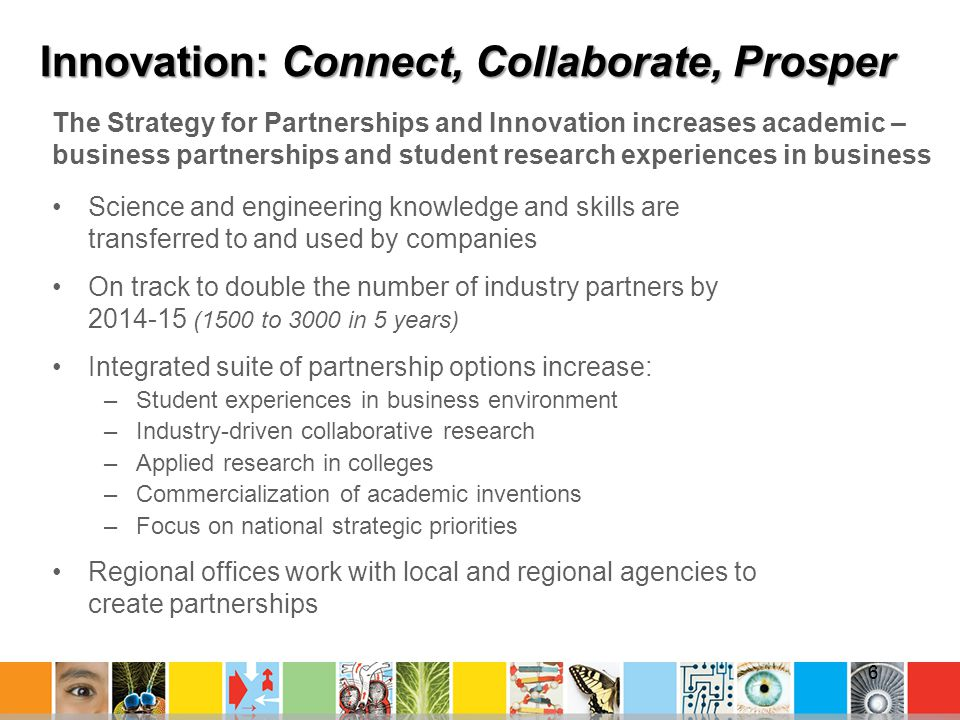 Innovation: Connect, Collaborate, Prosper