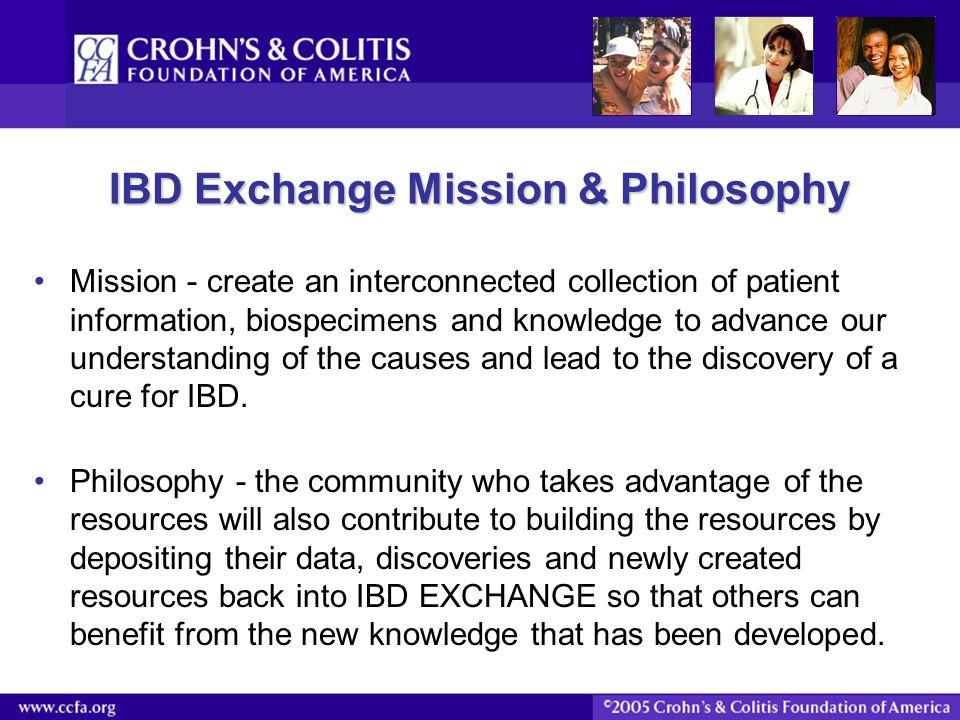 IBD Exchange Mission & Philosophy