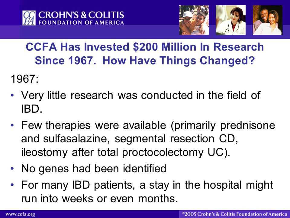 Very little research was conducted in the field of IBD.