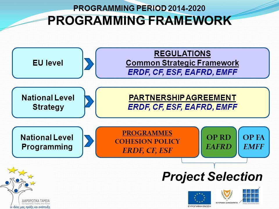 PROGRAMMING FRAMEWORK Common Strategic Framework PARTNERSHIP AGREEMENT