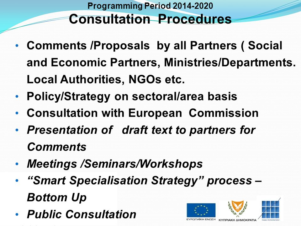 Consultation Procedures