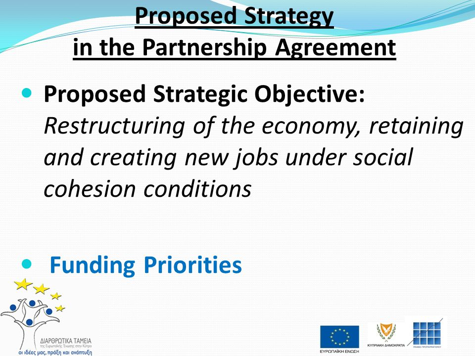 Proposed Strategy in the Partnership Agreement