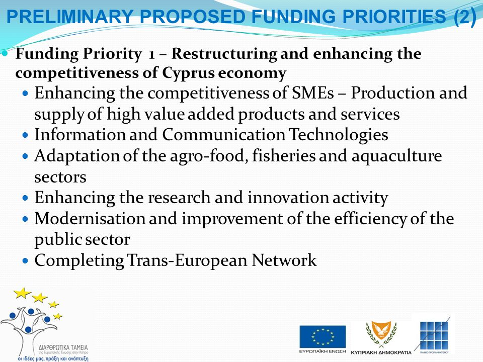 PRELIMINARY PROPOSED FUNDING PRIORITIES (2)