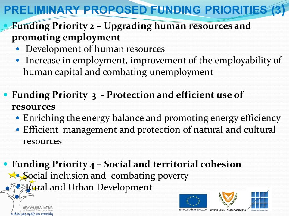 PRELIMINARY PROPOSED FUNDING PRIORITIES (3)