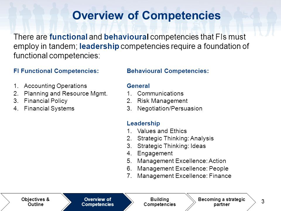 Overview of Competencies