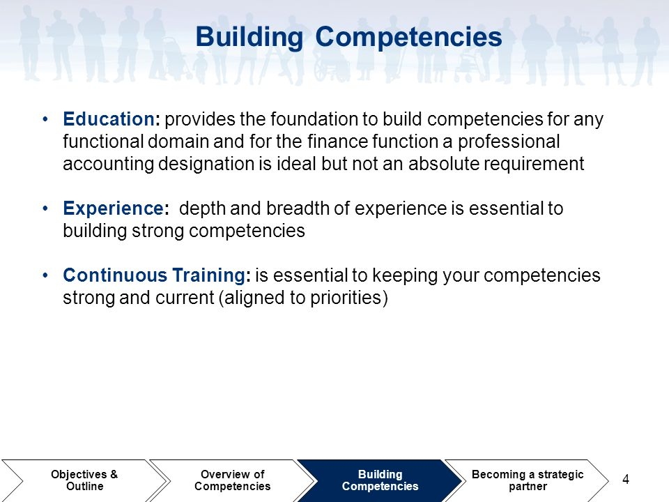 Building Competencies