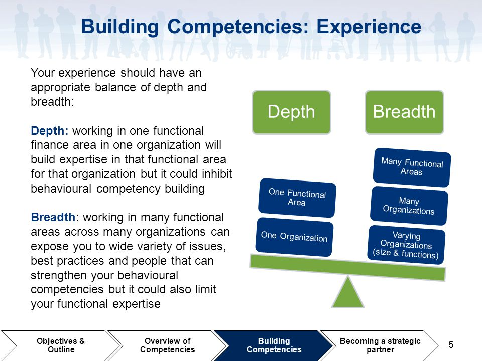Building Competencies: Experience