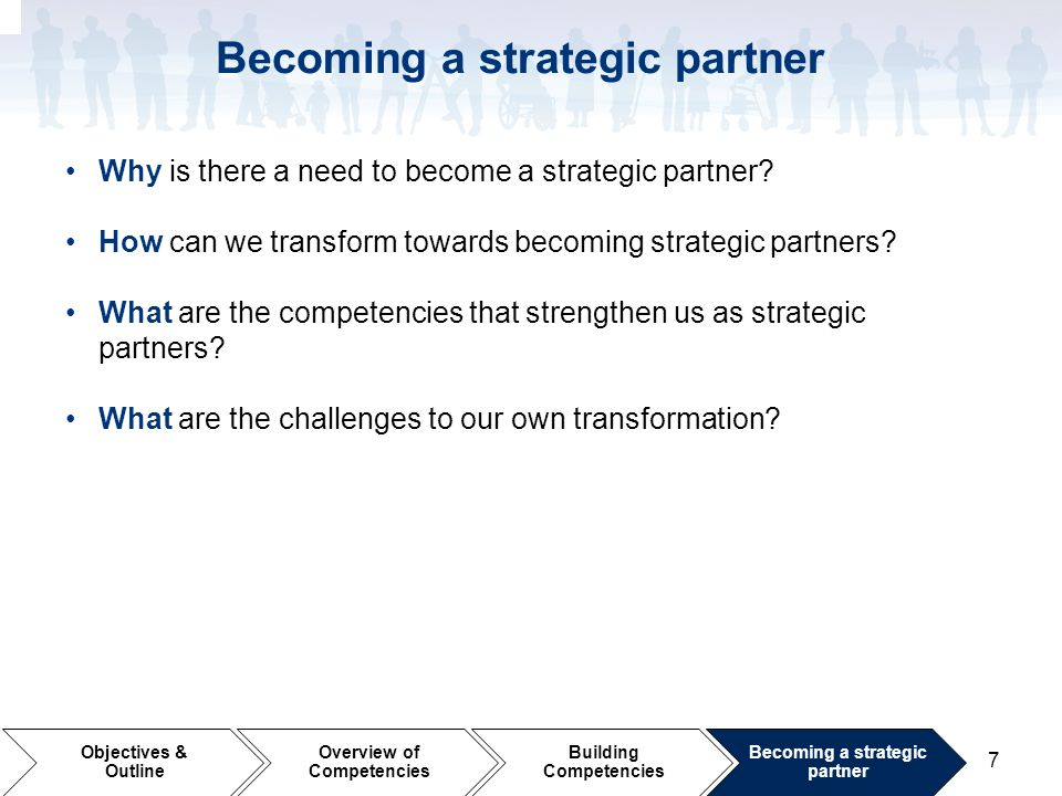 Becoming a strategic partner