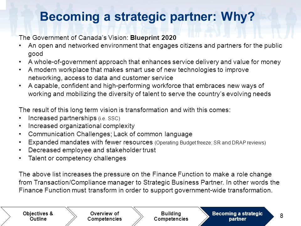 Becoming a strategic partner: Why