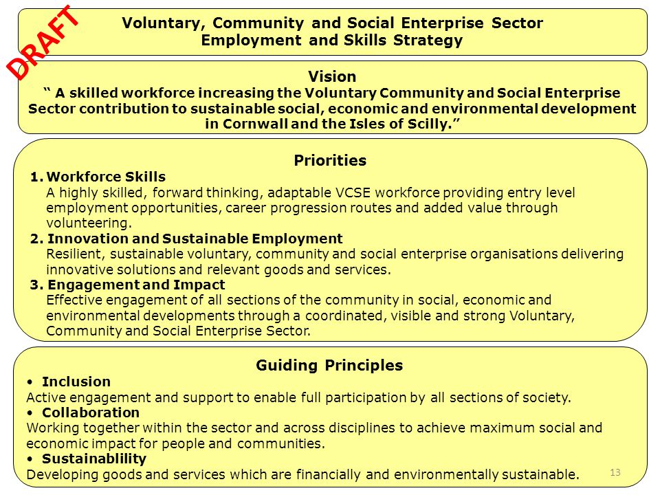 Voluntary, Community and Social Enterprise Sector