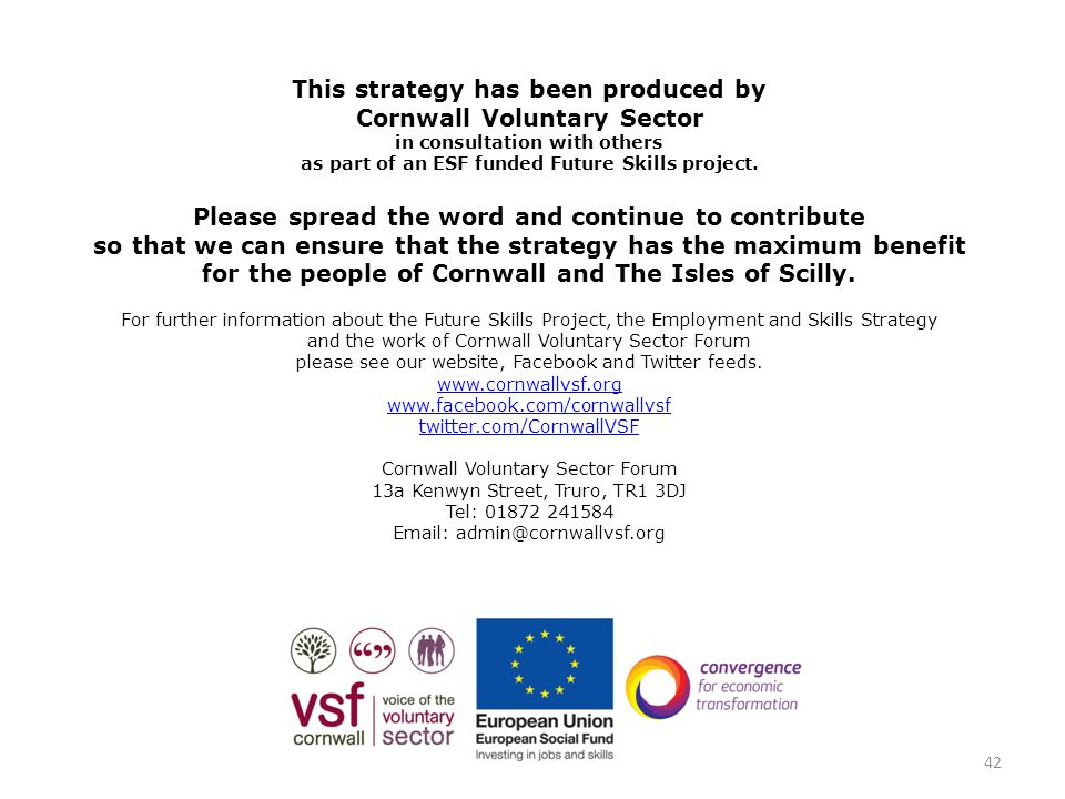 This strategy has been produced by Cornwall Voluntary Sector