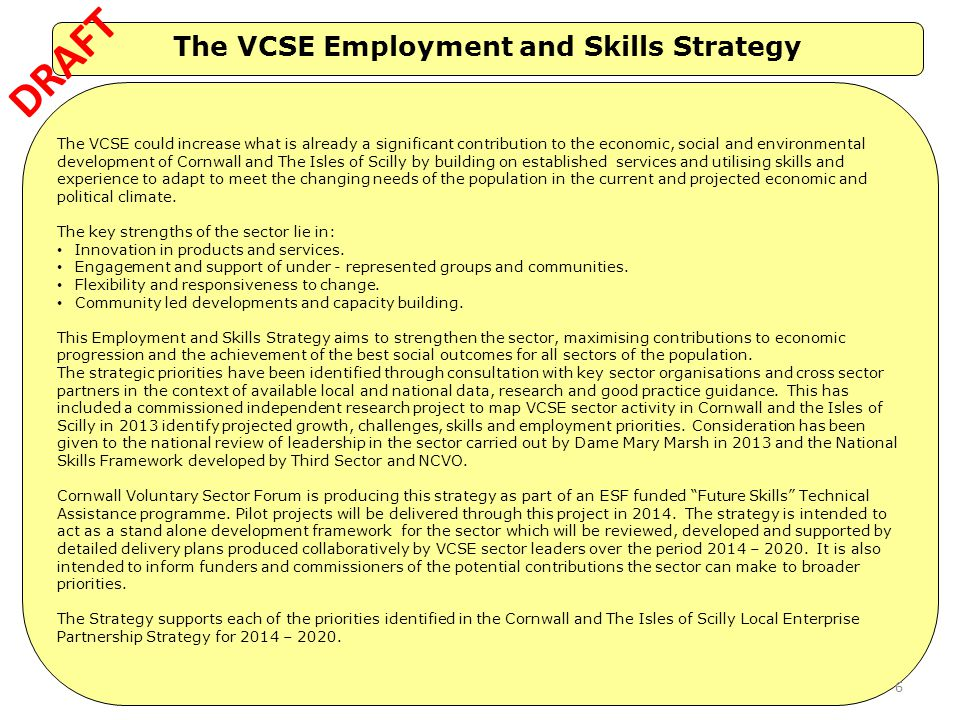 The VCSE Employment and Skills Strategy