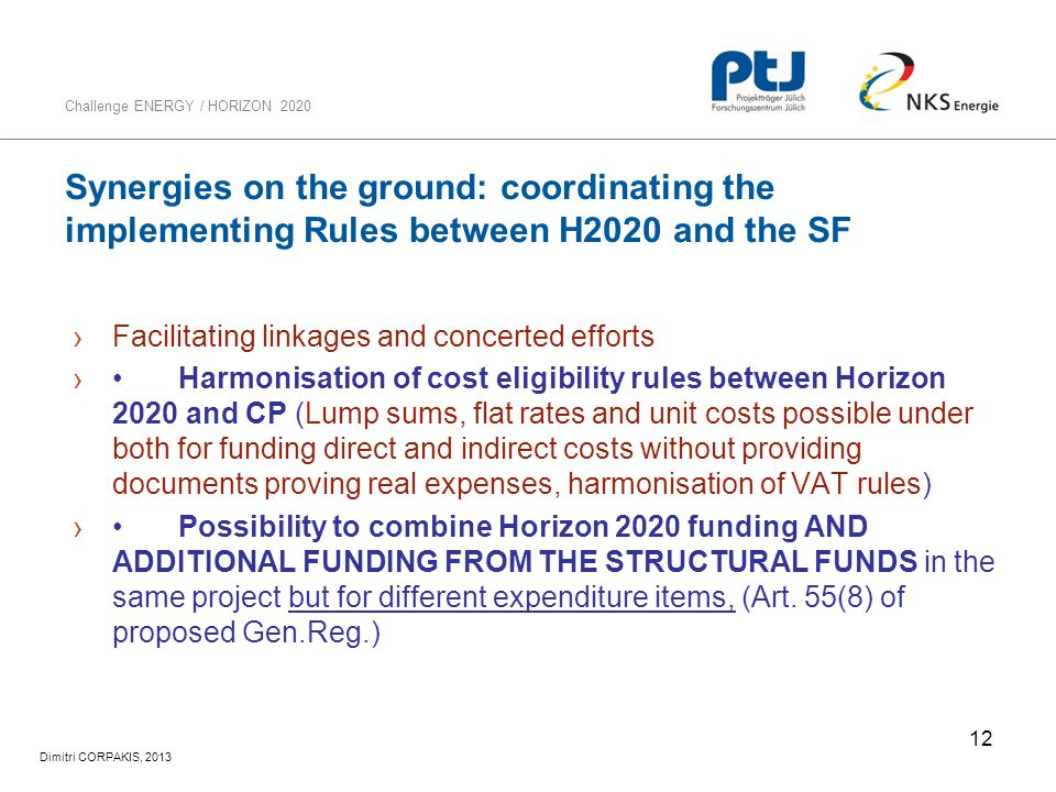 Synergies on the ground: coordinating the implementing Rules between H2020 and the SF