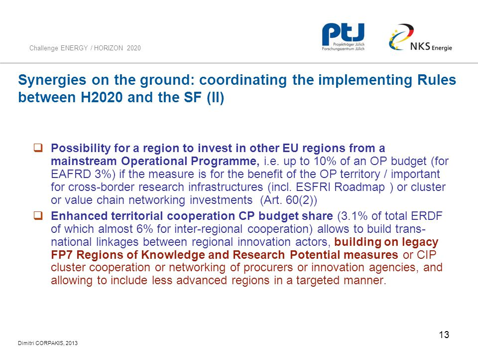 Synergies on the ground: coordinating the implementing Rules between H2020 and the SF (II)