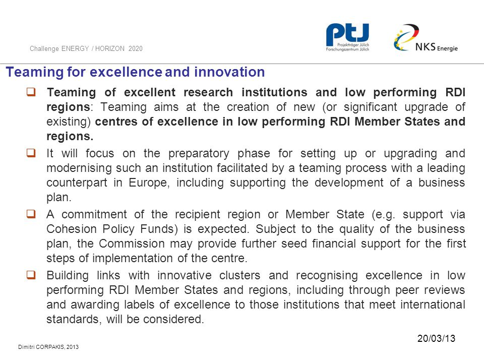 Teaming for excellence and innovation