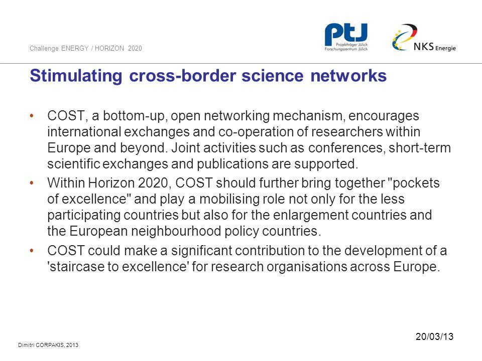 Stimulating cross-border science networks