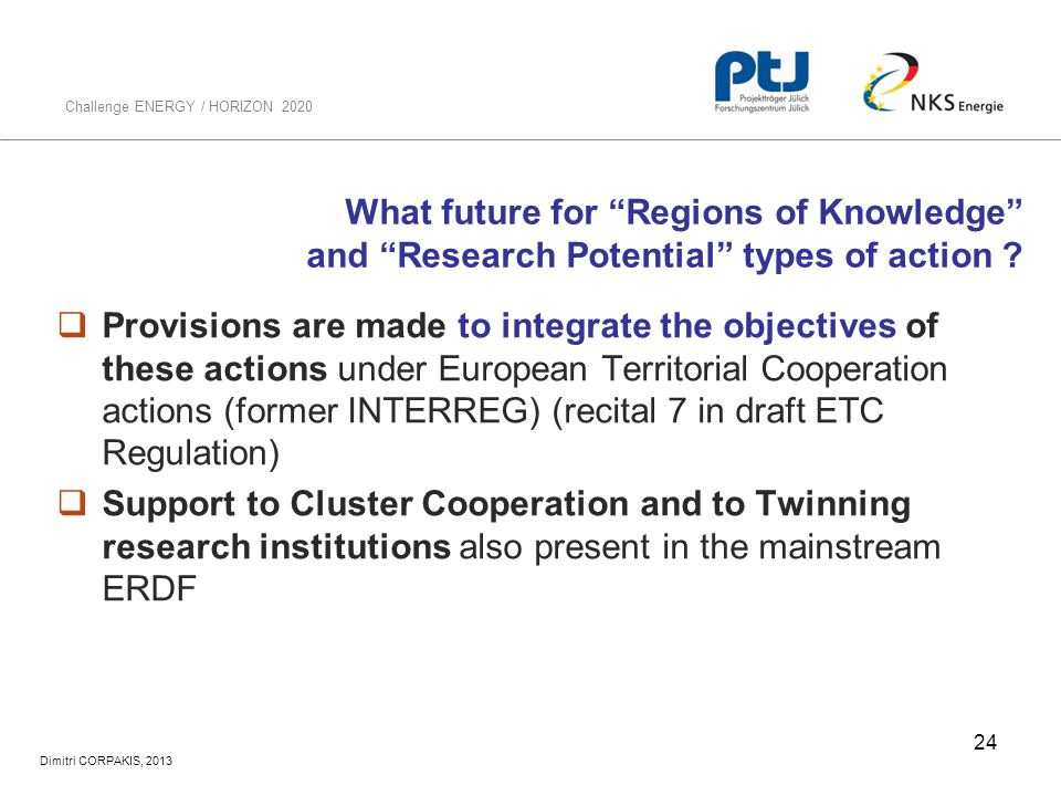 What future for Regions of Knowledge and Research Potential types of action