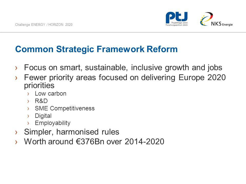 Common Strategic Framework Reform