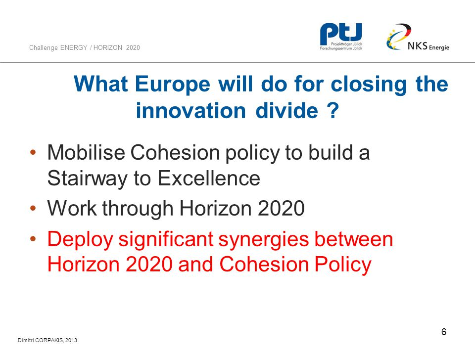 What Europe will do for closing the innovation divide