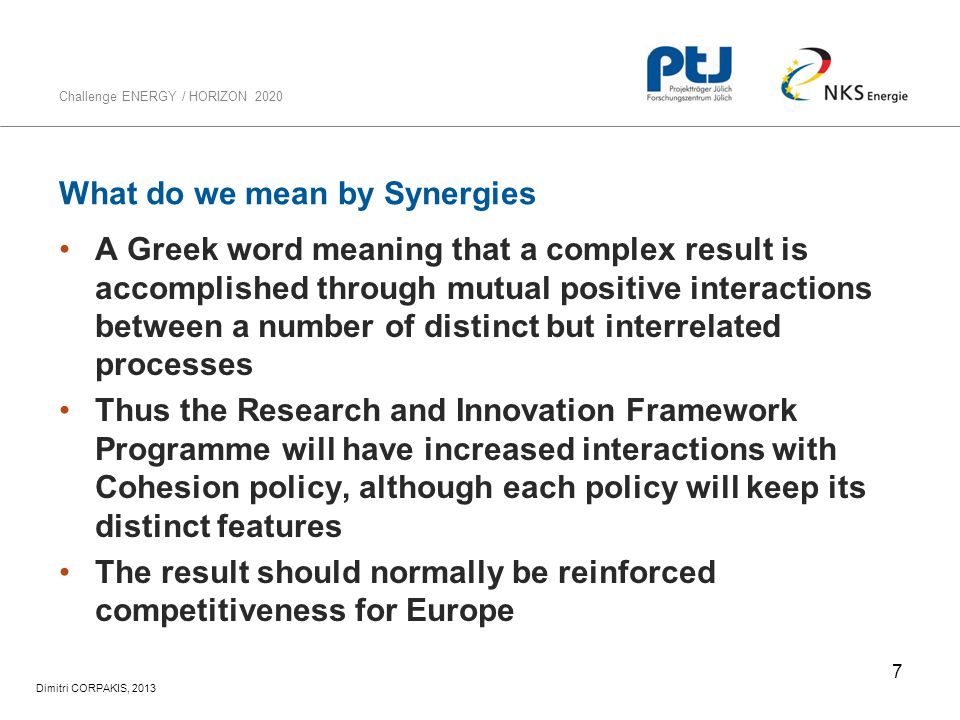 What do we mean by Synergies