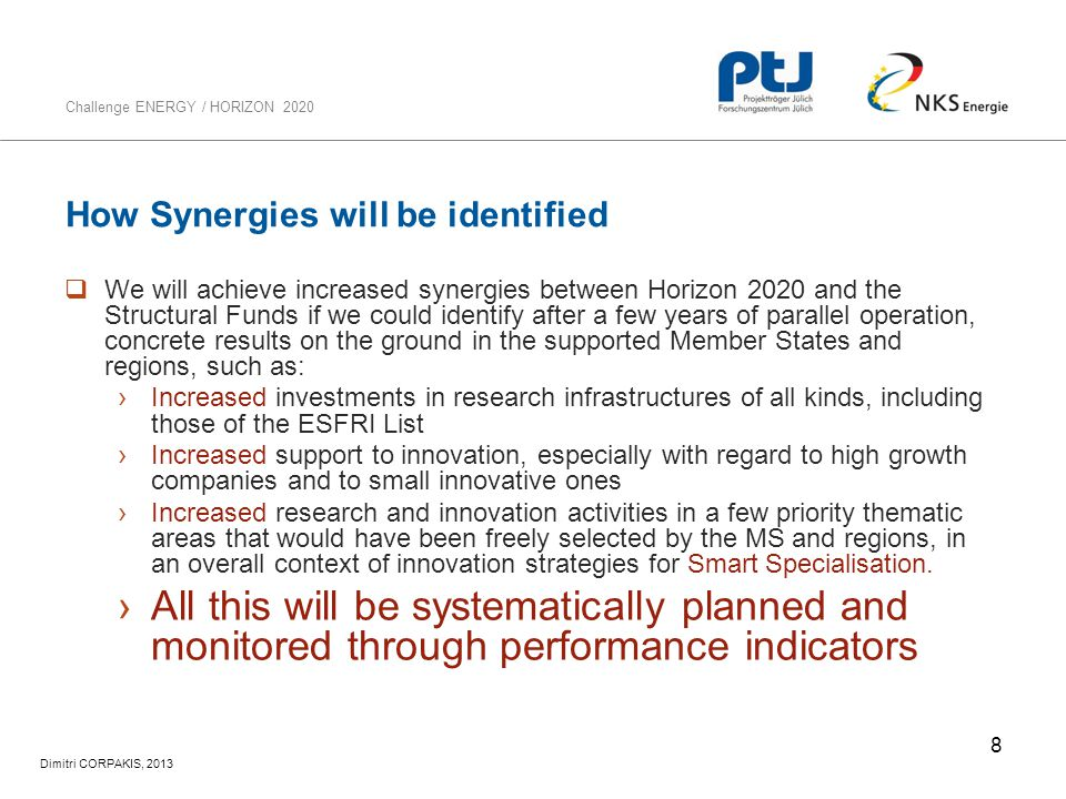 How Synergies will be identified