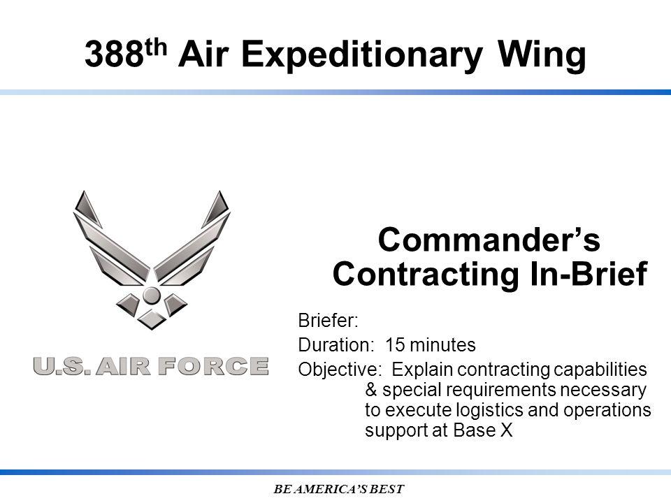 Commander's Contracting In-Brief